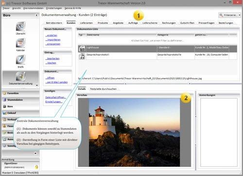 3. Produktbild Tresor Bürosoftware