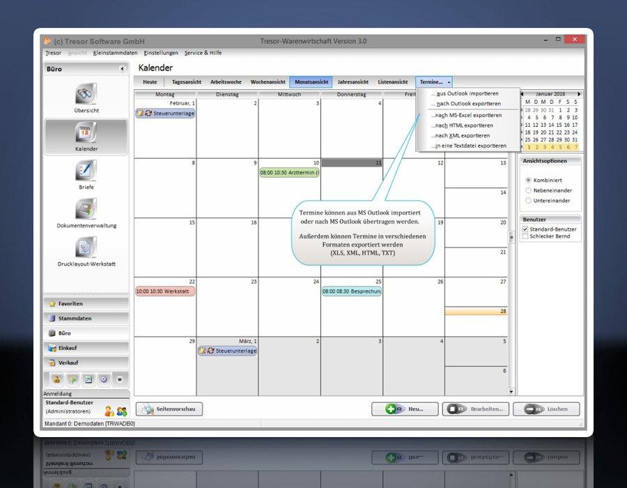 Tresor Bürosoftware Rechnungsprogramm