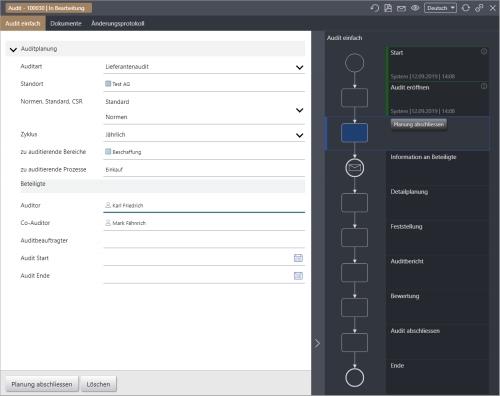 IMS PREMIUM - Beispiel Screenshot Audit