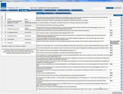 3. EG-Richtlinien ermitteln