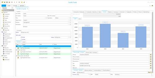 5. Produktbild Sunrise Software Relations CRM
