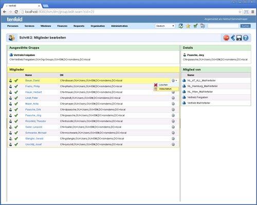 4. Produktbild tenfold - Integrierte Lösung für Berechtigungsverwaltung