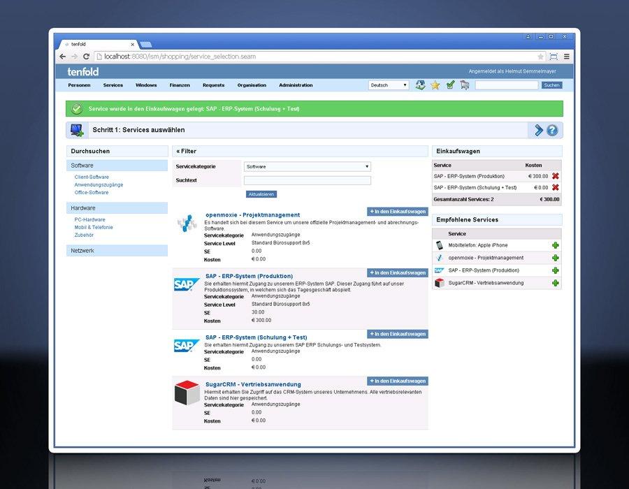 5. Produktbild tenfold - Integrierte Lösung für Berechtigungsverwaltung