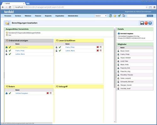 7. Produktbild tenfold - Integrierte Lösung für Berechtigungsverwaltung