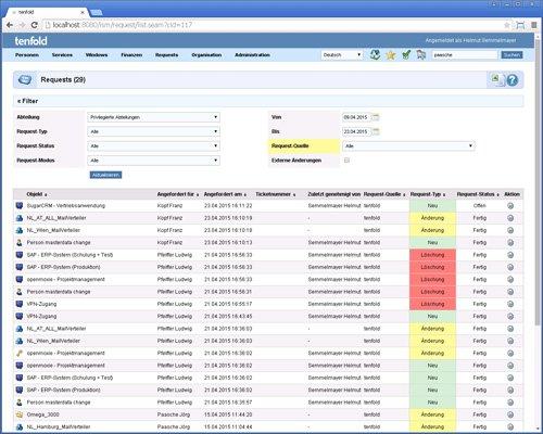 11. Produktbild tenfold - Integrierte Lösung für Berechtigungsverwaltung