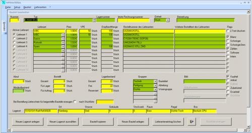 Software für Materialverwaltung