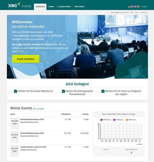 2. Produktbild XING Events - Ticketing Software & Online Registrierung