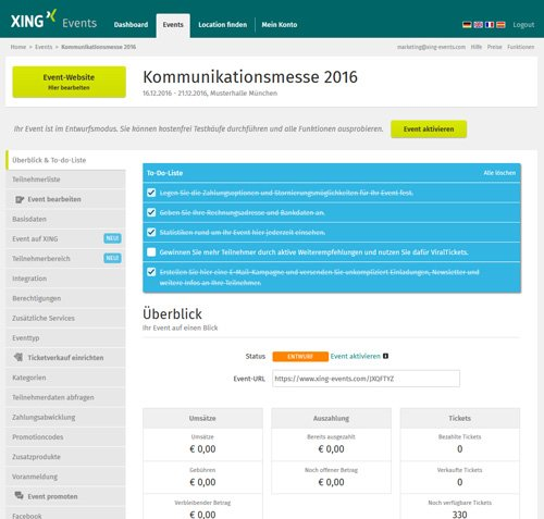 3. Produktbild XING Events - Ticketing Software & Online Registrierung