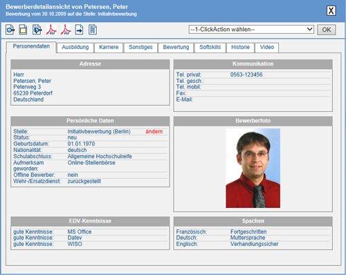 6. Produktbilld HReCONNECT - Effizientes E-Recruiting, SaaS Cloud Lösung