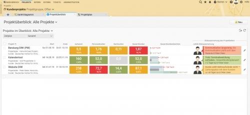 Übersicht im Multiprojektmanagement in Projektron BCS
