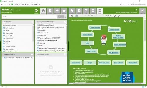 Einstiegsseite M-Files QMS mit Process Maps (Home Guide)