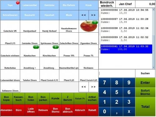 Kassensoftware Einzelhandel, Kassensystem Handel