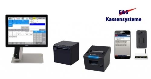 Kassensystem mit Bondrucker Theke, Küche und Funkhandy