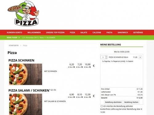 Liefercar WEB Shop für Lieferdienst und Maxstore Kasse
