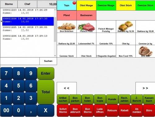 Maxstore Kassensoftware Lebensmittelhandel