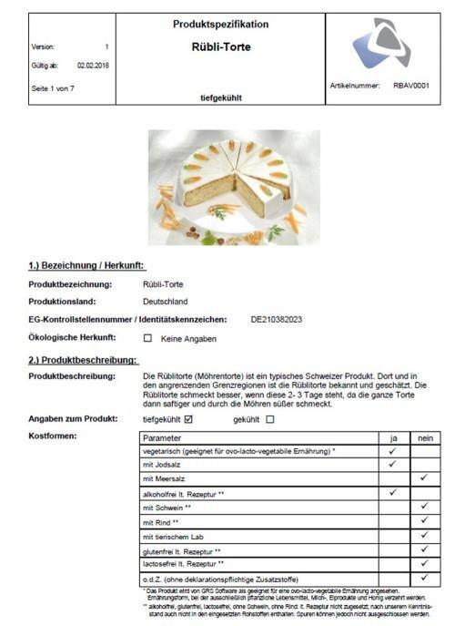 Produktspezifikation (Beispiel)