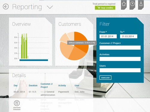 2. Produktbild askDANTE - Zeiterfassungssoftware