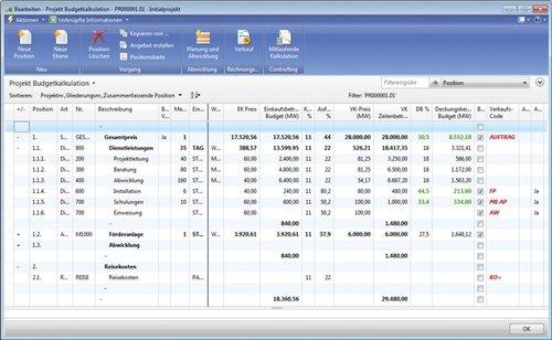 2. Produktbild  cc|project für Dienstleister auf Basis von Microsoft Dynamics