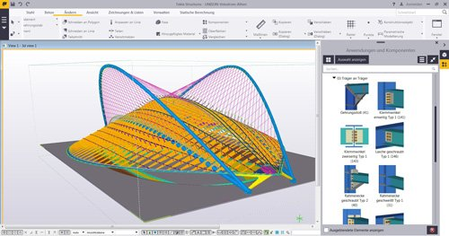 1. Produktbild Tekla Structures für Stahlbau / Metallbau / Anlagenbau / Stahlbetonbau