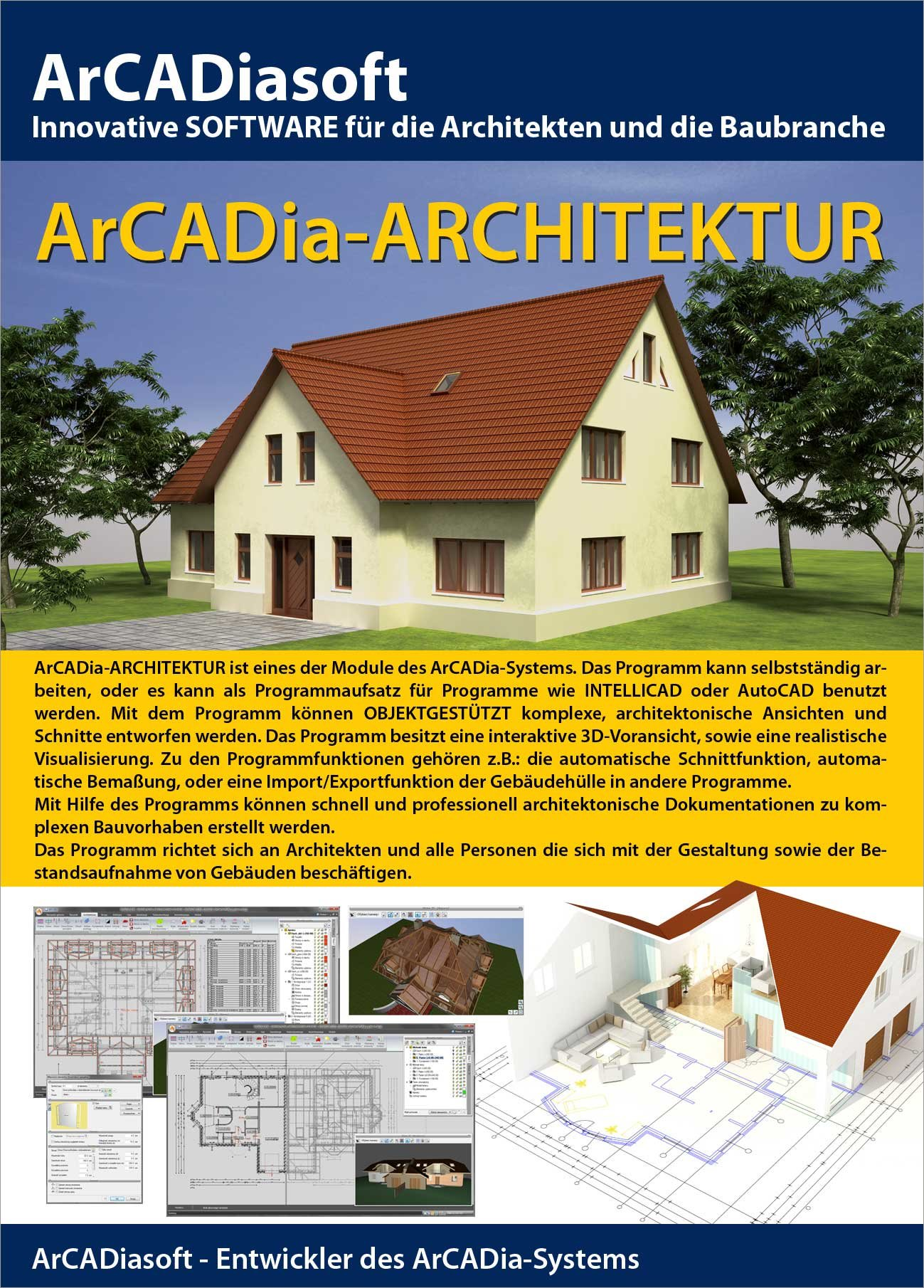 arcadia cad programm bim methodik planungssoftware. Black Bedroom Furniture Sets. Home Design Ideas