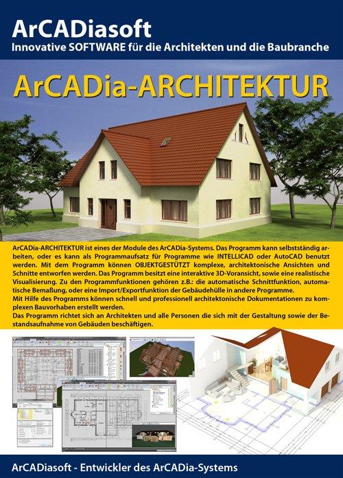 1. Produktbild ArCADia - CAD-Programm, BIM-Technologie