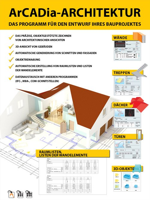 3. Produktbild ArCADia - CAD-Programm, BIM-Technologie