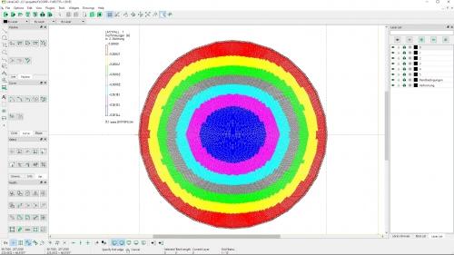 Plattenberechnung einer Kreisplatte mit einer DXF-Verformungsverteilung