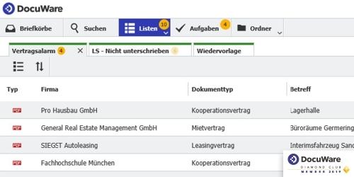 Aufgaben-Management mit Listen