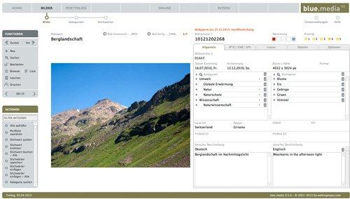 1. Produktbild blue.media - Die Bilddatenbank