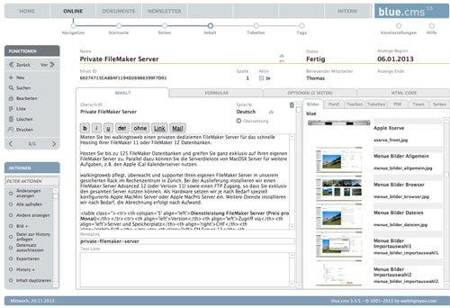 3. Produktbild blue.cms - Die CMS Lösung