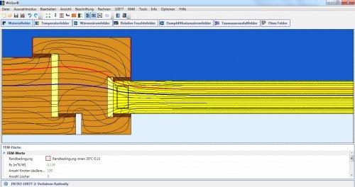 WINISO® Materialfelder mit Isothermen