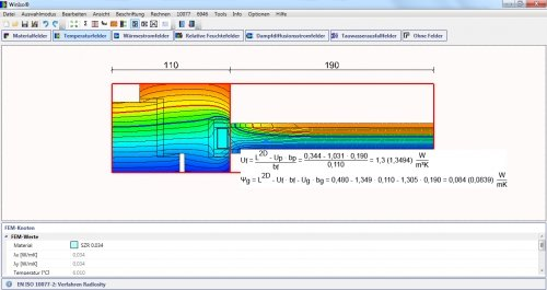 WINISO® Temperaturfelder mit Isothermen