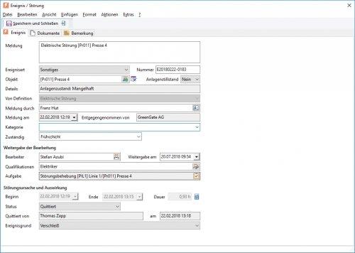 7. Produktbild GS-Service - Instandhaltungssoftware, IPS, Betriebsführung