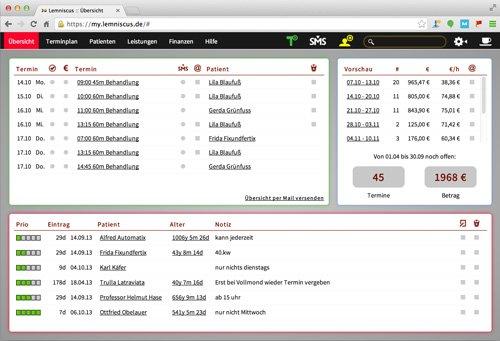 2. Produktbild LEMNISCUS - Praxissoftware / Praxisverwaltung