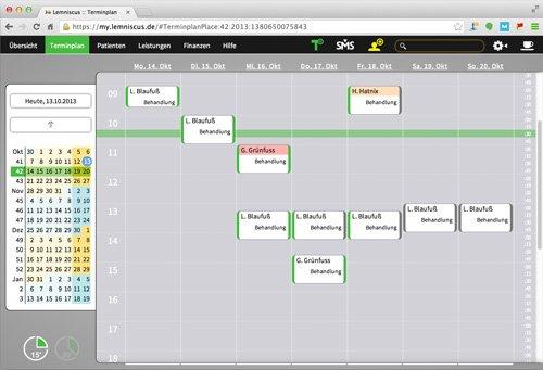 3. Produktbild LEMNISCUS - Praxissoftware / Praxisverwaltung