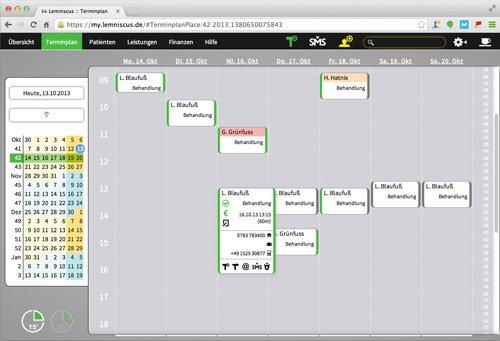 4. Produktbild LEMNISCUS - Praxissoftware / Praxisverwaltung