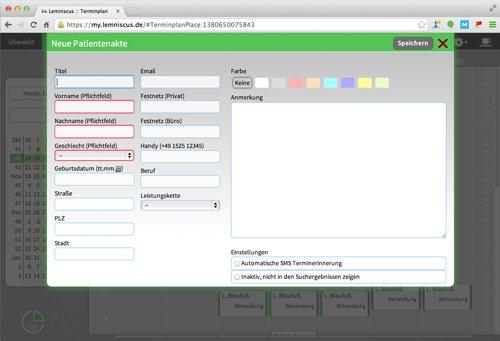 11. Produktbild LEMNISCUS - Praxissoftware / Praxisverwaltung