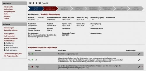 Audit in Bearbeitung