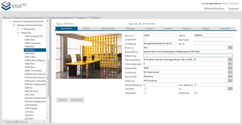 3. Produktbild Visa FM Raumbuch - Facility Management Software