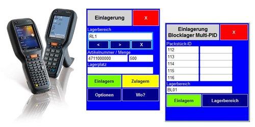 Mobile Anwendungen (Handheld) - Einlagerung