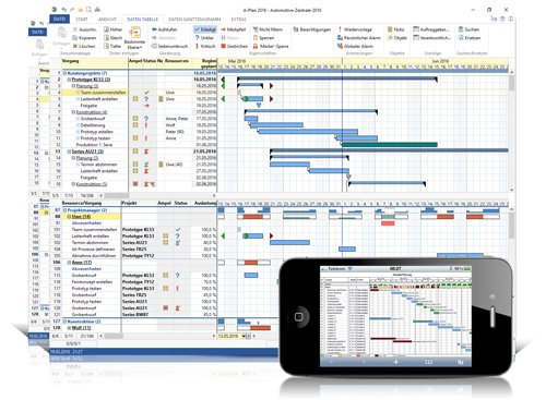 2. Produktbild A-Plan 2016 - preiswertes Projektmanagement Programm