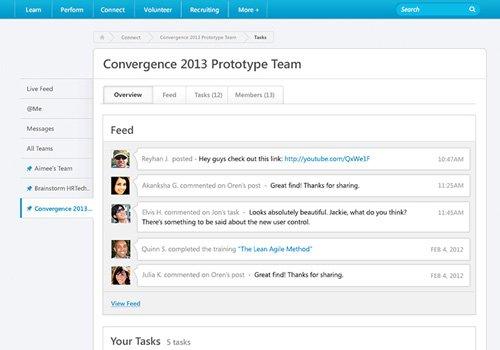 1. Produktbild Cornerstone Connect - Das Tool zur Zusammenarbeit im Unternehmen