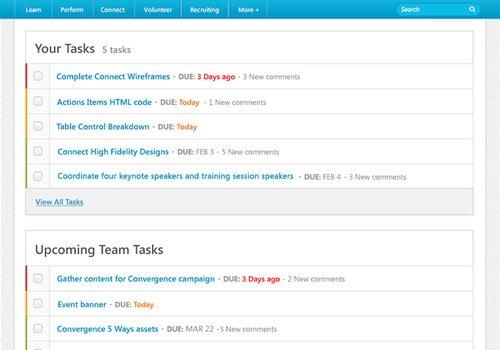 3. Produktbild Cornerstone Connect - Das Tool zur Zusammenarbeit im Unternehmen