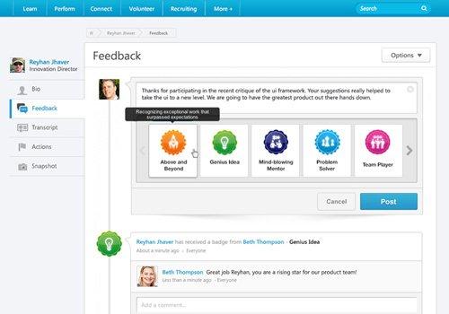 4. Produktbild Cornerstone Connect - Das Tool zur Zusammenarbeit im Unternehmen