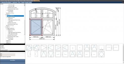 Fensterkonstruktionsformular