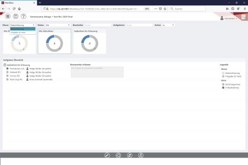 Weberfassung und -Reporting - Workflow-Monitor