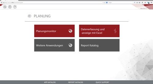 IDL-Planungs-Plattform mit Zugriff auf den Planungsmonitor in IDL.FORECAST