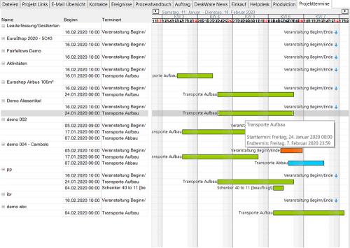 DW.project - Terminplanung