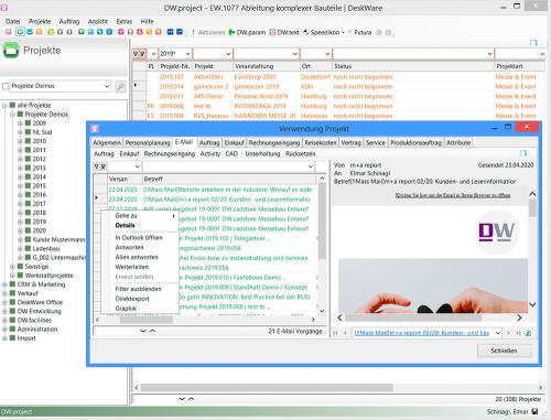 DW.project - E-Mails & Projekte
