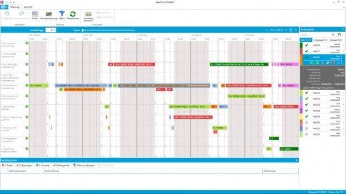SelectLine Produktion (Plantafel) Übersicht